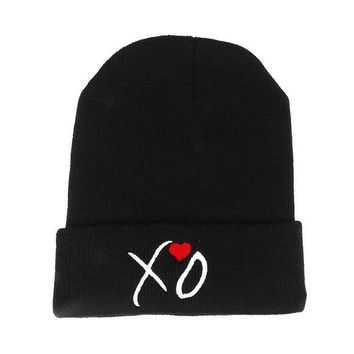 Perfect The Weeknd XO Embroidery Hiphop Women Men Beanies Winter Knit Hat Cap