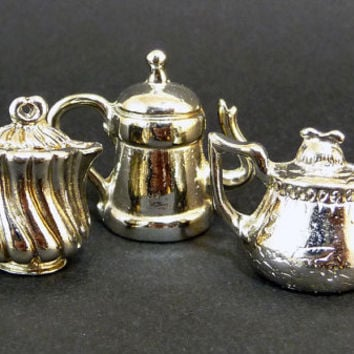 5 French Feves Teapots french vintage collectable miniatures collector gift idea king cake dollhouse mothers day gift  home decor