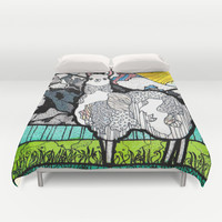 Llama and Andes Duvet Cover by Nemki