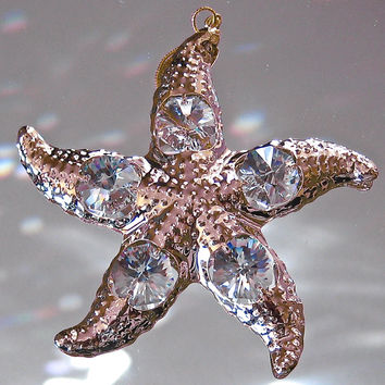 Swarovski Prism Starfish Ornament, 24GP