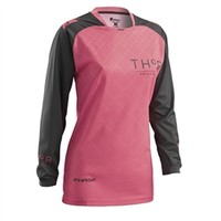 Thor 2016 Womens Phase Clutch Jersey Charcoal/Coral available at Motocross Giant