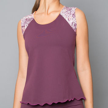 Mulberry Short-Sleeve Top (purple)