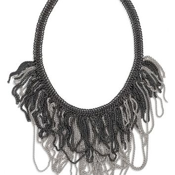 Women's Kendra Scott 'Mystic Bazaar - Margot' Chain Bib Necklace - Gunmetal