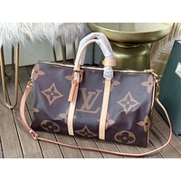LV Louis Vuitton MEN'S MONOGRAM CANVAS KEEPALL 50 HANDBAG TRAVEL BAG