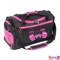 Fit For A Belle Pink Barbells And Bow Gym Bag For Ladies