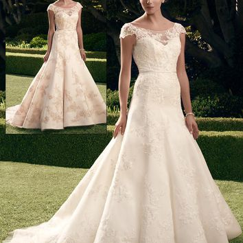 Casablanca Bridal 2180 Beaded Lace Fit & Flare Wedding Dress