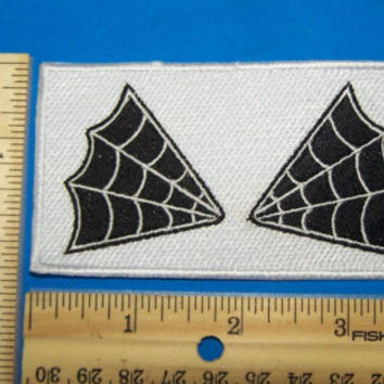 SPIDER WEB COLLAR PATCHES SET ELBOW PATCH OUTLAW MC 1%ER FOR BIKER  JACKET VEST
