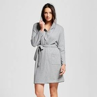 Women's Knit Hooded Robe Heather Gray - Xhilaration™