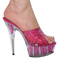 6 inch Slip On Hologram Mule [KS:0480-6] : Sexy High Heel Store, Sexy Shoe Shop, Buy High Heel Shoes For Men, High Heels for Every Lifesstyles