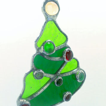 Stained Glass Beaded Christmas Tree Christmas Tree Ornament Free Shipping