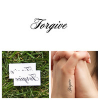 Quotes - Forgive - Temporary Tattoo (Set of 2)