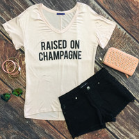 Raised on Champagne Top: Blush
