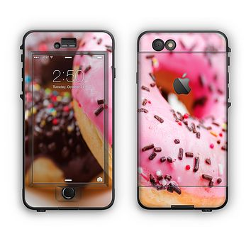 The Sprinkled Donuts Apple iPhone 6 Plus LifeProof Nuud Case Skin Set