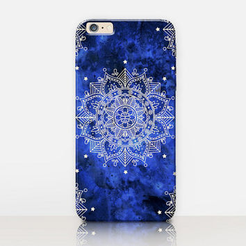 Blue Mandala Phone Case- iPhone 6 Case - iPhone 5 Case - iPhone 4 Case - Samsung S4 Case - iPhone 5C - Tough Case - Matte Case - Samsung