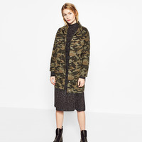 LONG CAMOUFLAGE JACKET DETAILS