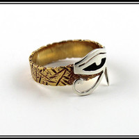 Ancient Egypt Eye of horus Ring Eye of ra silver by Silversmith925