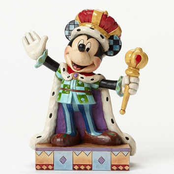 Jim Shore Disney Traditions Mickey Mouse - King For A Day - 4048654