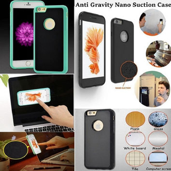 Novel Anti-gravity Phone Case For iPhone 7 Plus Magical Anti gravity Nano Suction Back Cover Antigravity Cases For iPhone 7Plus