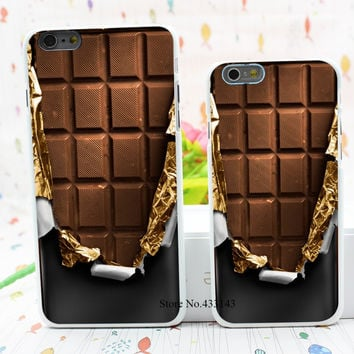 cover chocolate Style Hard White Cover Skin Back Case for iPhone 6 6s 6 plus