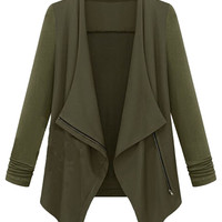 Army Green Waterfall Cardigan