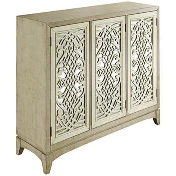 Dinali Tan 3-Door Mirrored Credenza - #7C680 | LampsPlus.com