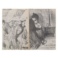 Pre-owned Original Vintage French Song Sheets - A Pair