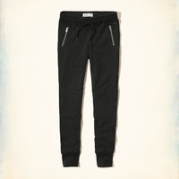 Girls Hollister Moto Fleece Leggings | Girls Clearance | HollisterCo.com
