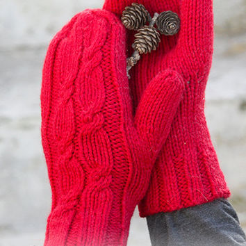 Mitts in wool and alpaca, knitted hand, color choice, accessories winter for woman or man, free delivery in Belgium - France