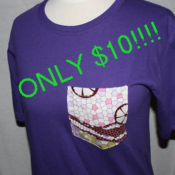 Purple Pocket Frocket Shirt SIZE SMALL by OwlOutfitters on Etsy