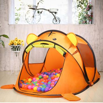 Lovely Portable Cartoon Animal Kids Toys Tent Indoor Outdoor Playing House
