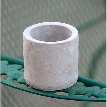 """Cement 3"""" H Pot Planter and Candle Holder"""