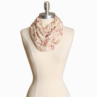 bayne valley floral infinity scarf - $12.99 : ShopRuche.com, Vintage Inspired Clothing, Affordable Clothes, Eco friendly Fashion
