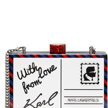 Karl Lagerfeld - Postcard Box Clutch