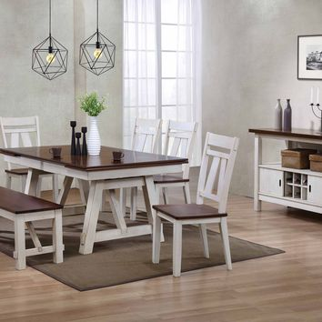 Winslow Rustic Farmhouse Dining Set