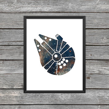 Millennium Falcon Poster Millennium Print Star Wars Millennium Falcon Art Star Wars Art Star Wars Outer Space Art Galaxy Nebula Download