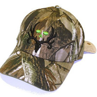 Bone Collector Camo Fitted Logo Cap Deer Hunting HAT | Realtree AP | M/L Size
