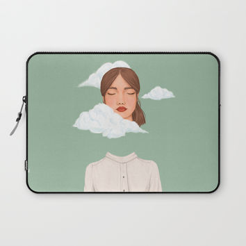 Head in the Clouds Laptop Sleeve by marylobs