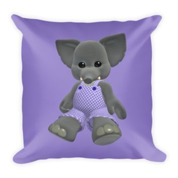 Shop Purple Elephant Pillow on Wanelo
