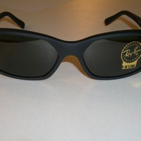 RAY BAN ITALY RB2016 W2578 MATTE BLACK G15 UV DADDY-O WRAPS SUNGLASSES BRAND NEW