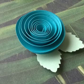 turquoise rose boutonniere groomsman pin back groom paper flower lapel brooch bridal party bridal shower wedding reception family favors