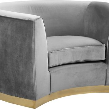Julian Grey Velvet Chair