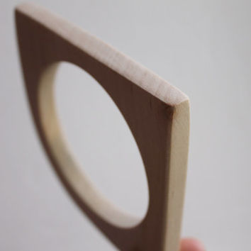 10 mm Wooden bangle unfinished corner - natural eco friendly IL10