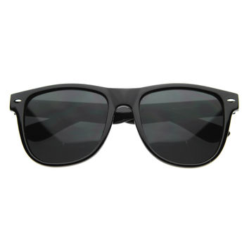 Large Trendy Fashion Horned Rim Sunglasses 8233