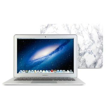 Macbook Air 13 Case, GMYLE Hard Case Print Frosted for MacBook Air 13 inch (Model: A1369 and A1466) - White Marble Pattern Rubber Coated Hard Shell Cover