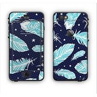 The Blue Aztec Feathers and Stars Apple iPhone 6 Plus LifeProof Nuud Case Skin Set