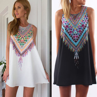Casual Boho Beach/Pool Party Mini Dress