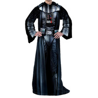Star Wars Classic - Being Darth Vader   Adult Uniform Comfy Throw Blanket w- Sleeves
