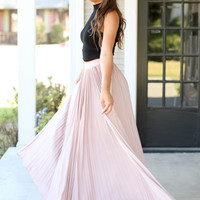 A Night To Remember Champagne Maxi Skirt