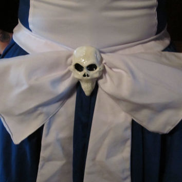 Sew-on Hollow Yves skull accessory for Alice Madness returns cosplay or costuming