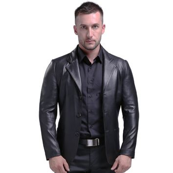 Men's Genuine Leather Jacket Real Leather Sheepskin